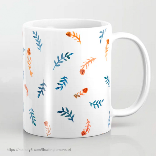 Cacophony Fish Bones Coffee Mug by Floating Lemons Art