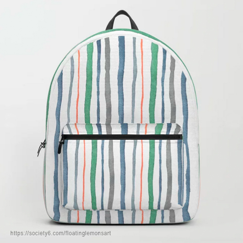 Cacophony Stripes Backpack by Floating Lemons Art