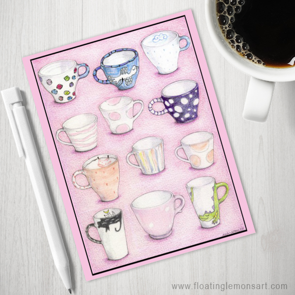 Pink Collection Postcards by Floating Lemons  Available internationally from:  USA  and  UK