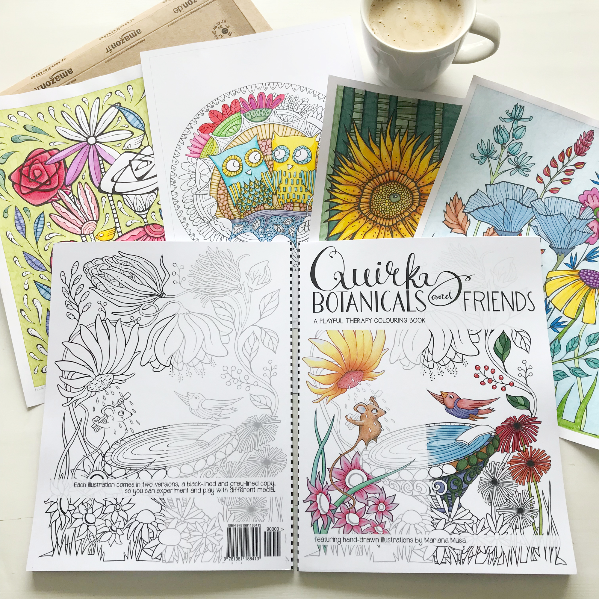 Quirky Botanicals Colouring Book available from  Amazon USA  and  Amazon UK  and  Barnes & Noble