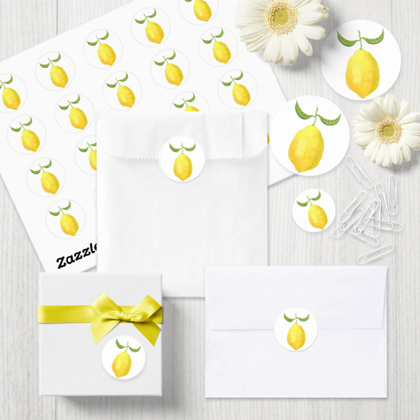Lemon Stickers by Floating Lemons  Available internationally from:  USA  and  UK