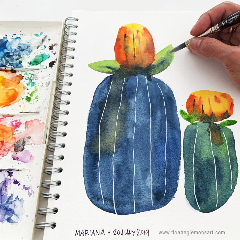 Odd Botanicals 1 by Mariana:  Floating Lemons Art