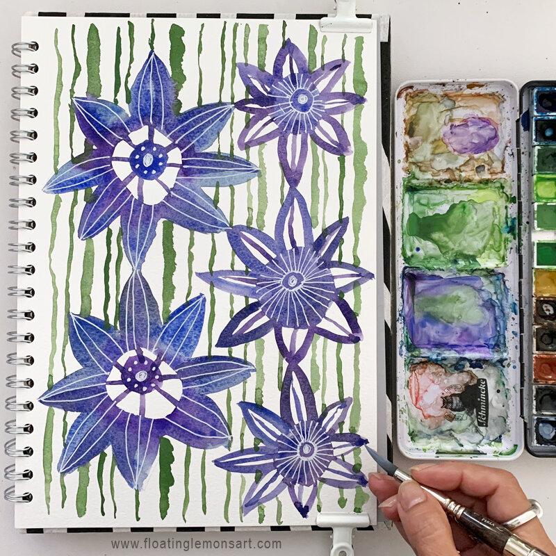 Flower Doodles by MarianaBlack:  www.  floatinglemonsart.com