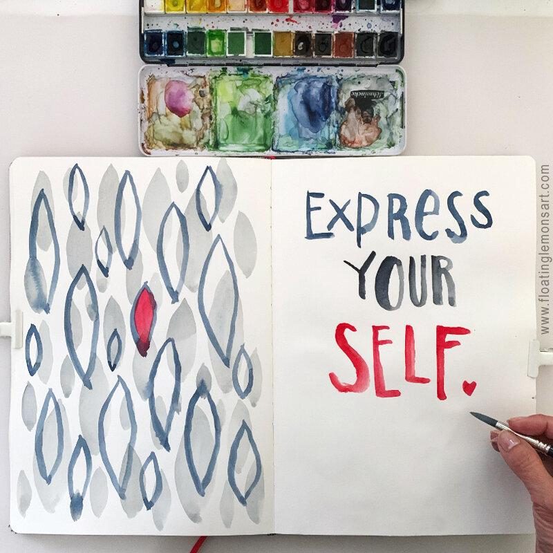 Express Yourself by MarianaBlack:  www.  floatinglemonsart.com