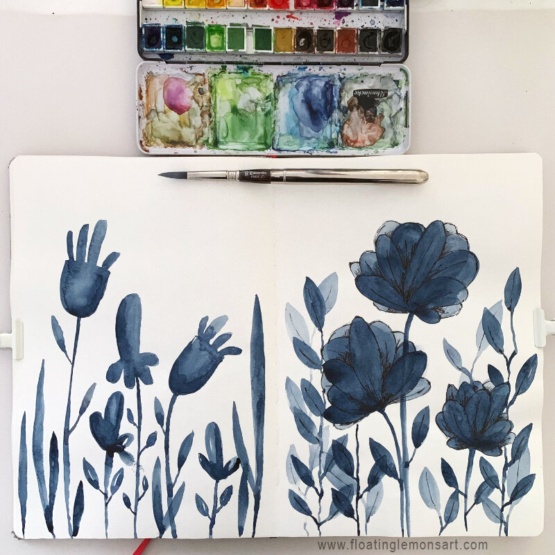 Bold Botanicals series by MarianaBlack:  www.  floatinglemonsart.com