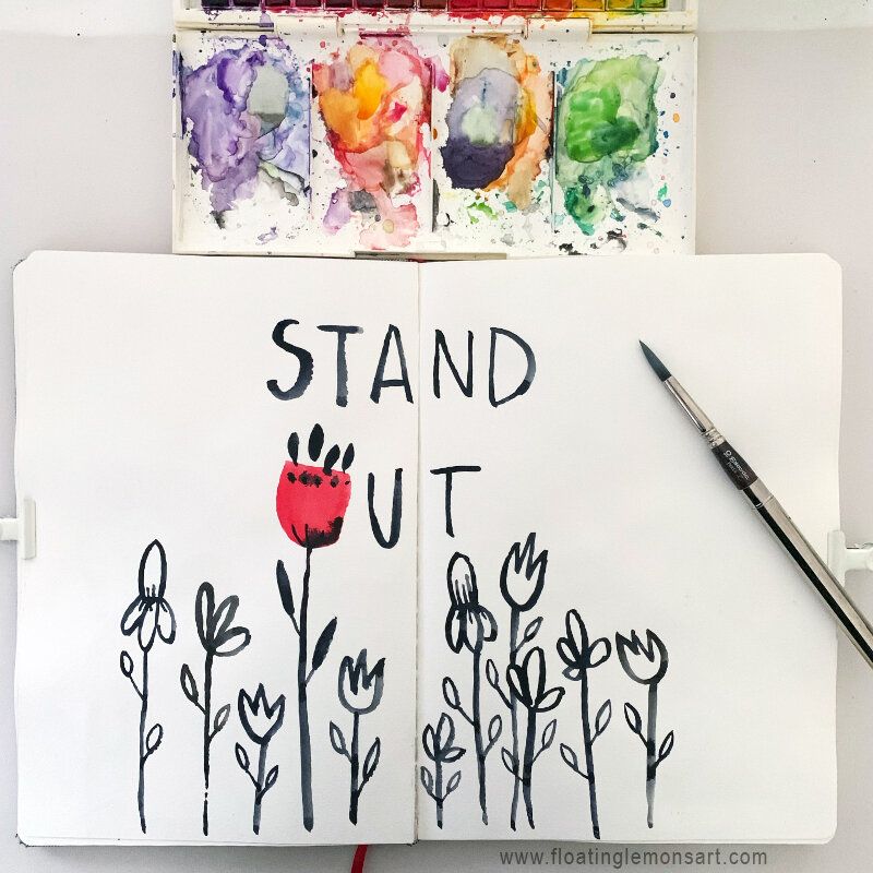 Stand Out by MarianaBlack:  www.  floatinglemonsart.com