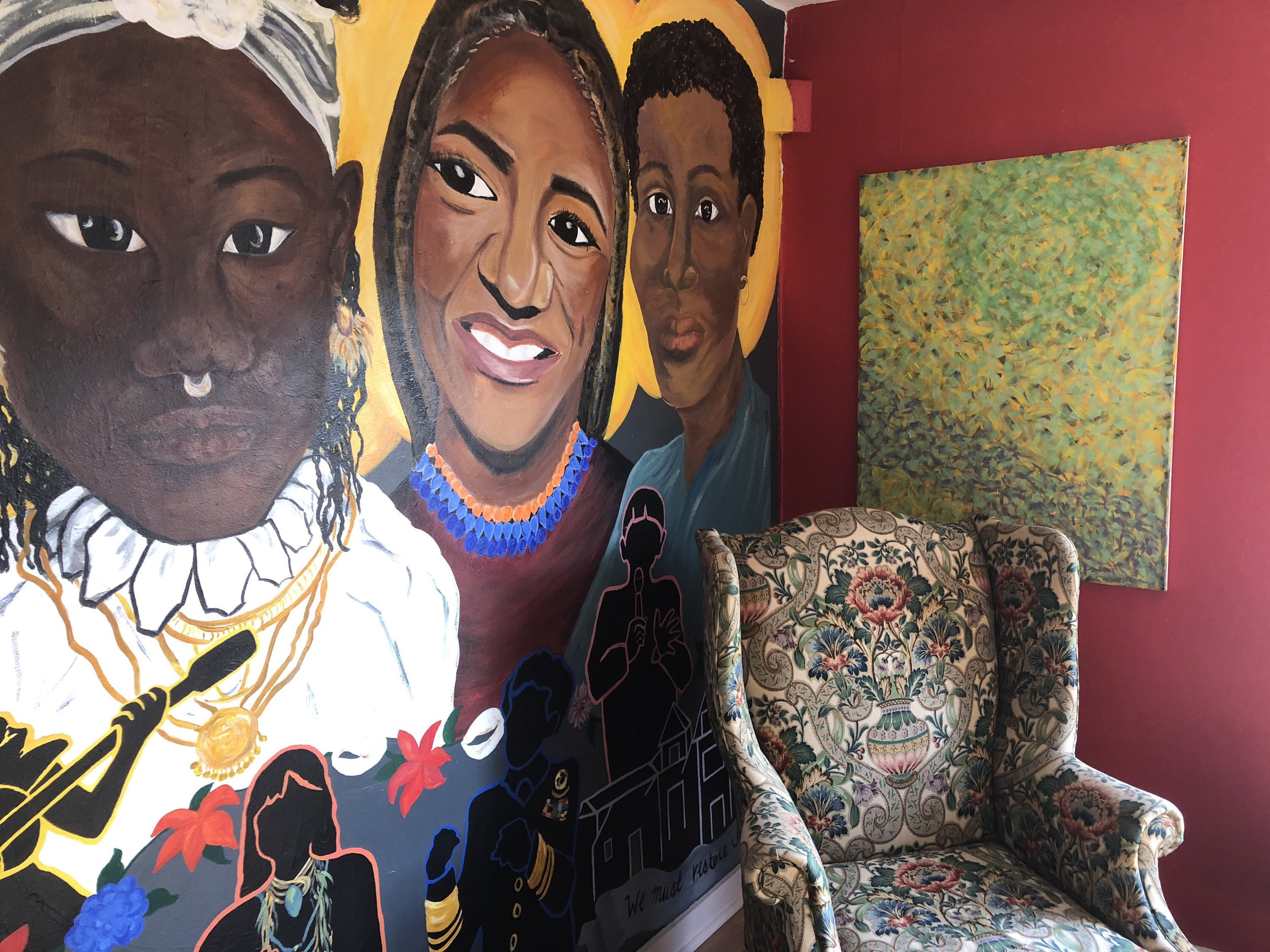 Mural Painting and Comfy Chair
