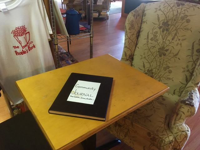 Community Art Journal Sits on a Table