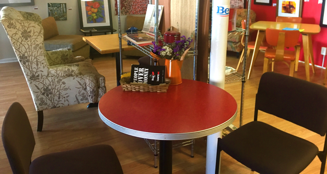 Table inside The People's Perk