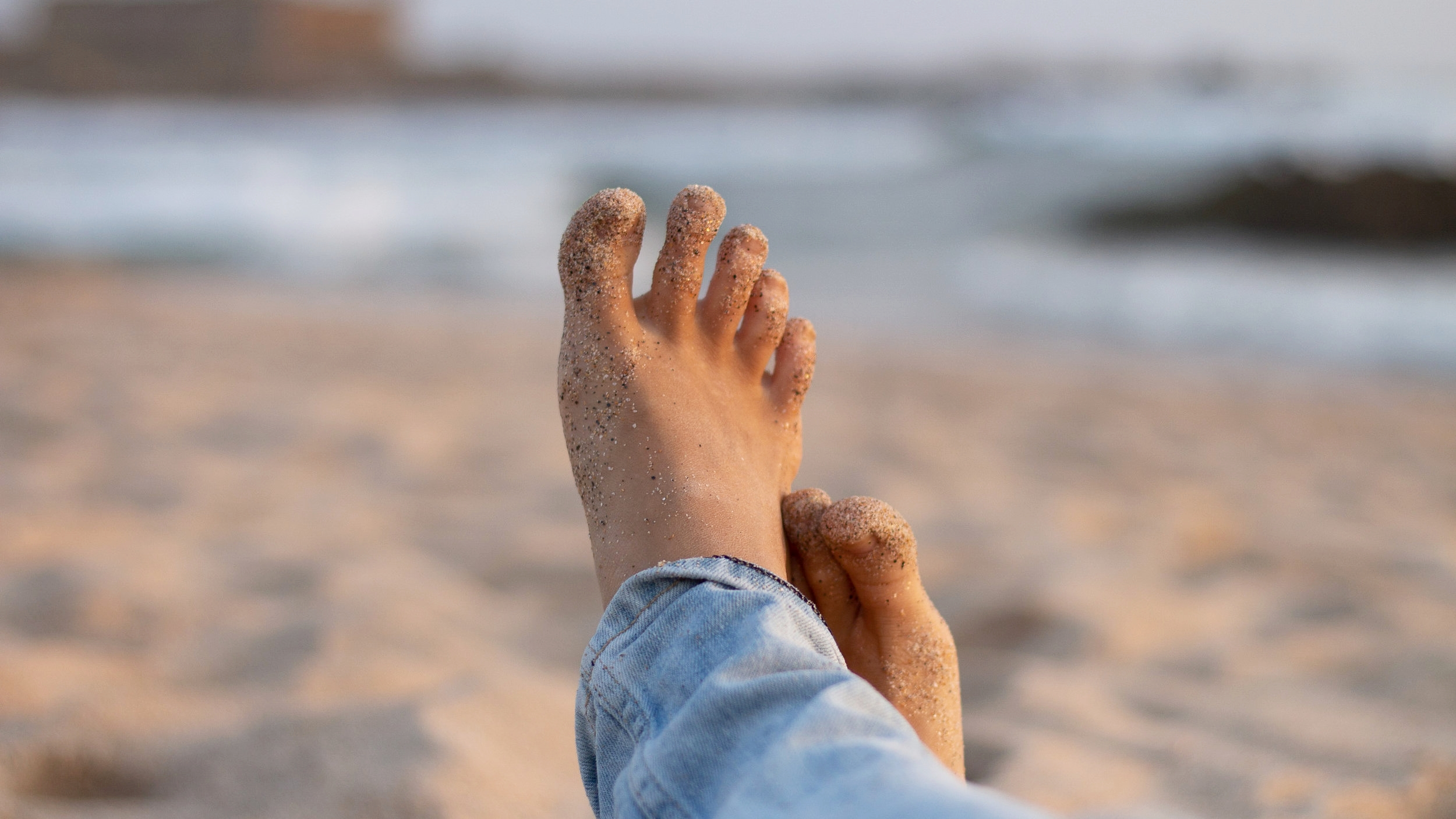 barefoot not just in the sand - whenever you can - for a healthy body structure!