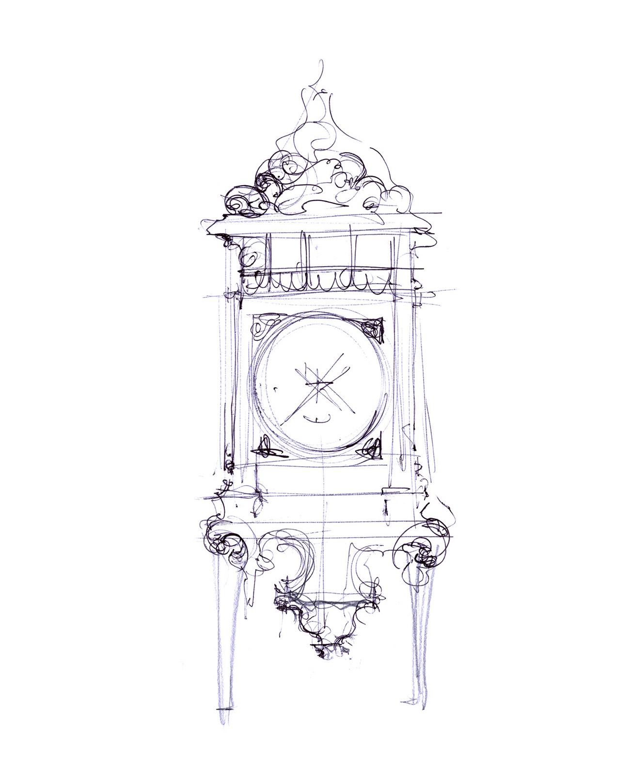 FIRST SKETCH OF THE CLOCKS SERIES, 2012
