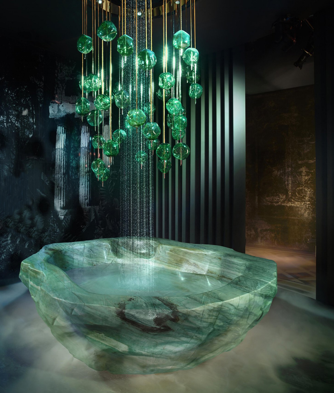GREEN QUARTZ TUB - baldi home jewels