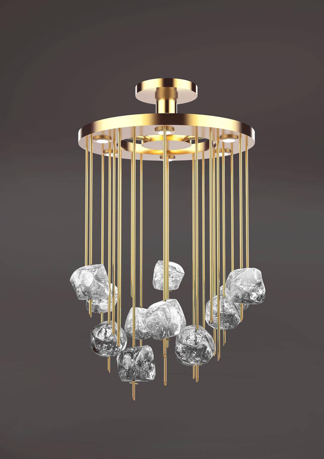 lampadario Doris - cristallo di Murano