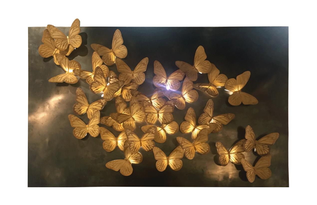 EFFETTO FARFALLA - barj buzzoni, resina su ottone, 2019