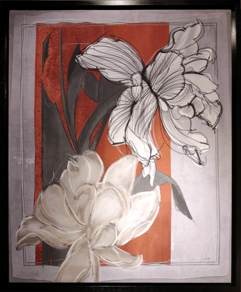 FIORI, stampa su legno - barj buzzoni, 2019
