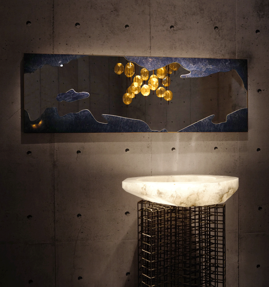 ROCK CRYSTAL BASIN - baldi home jewels, salone del mobile, 2019