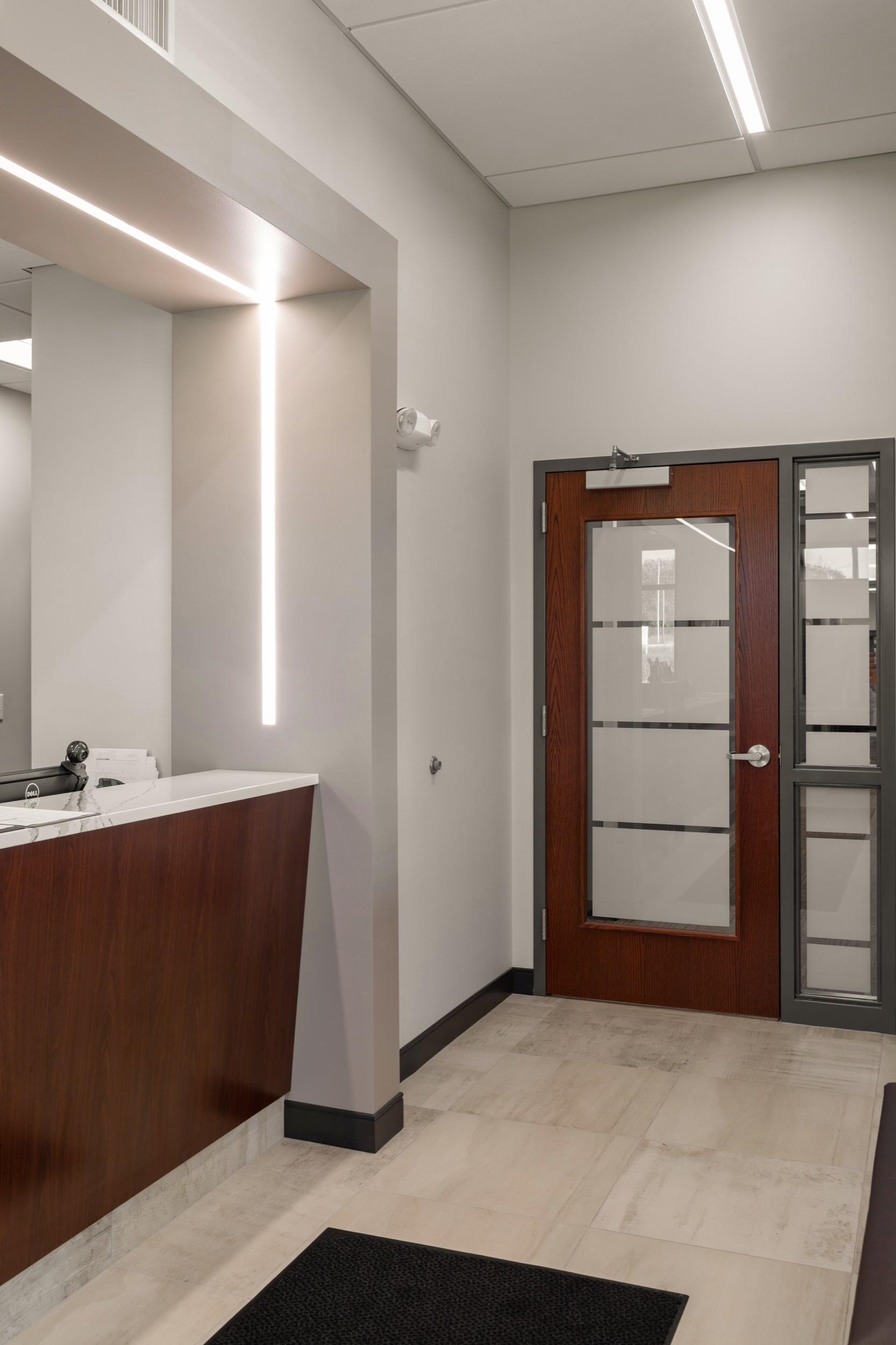 Exam area entrance at Summit Eye Center