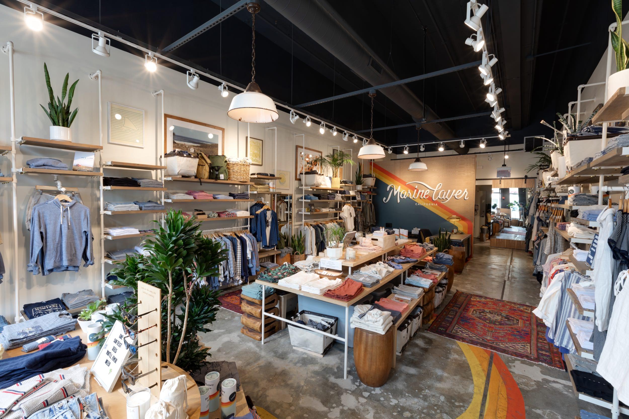 Retail space at Marine Layer