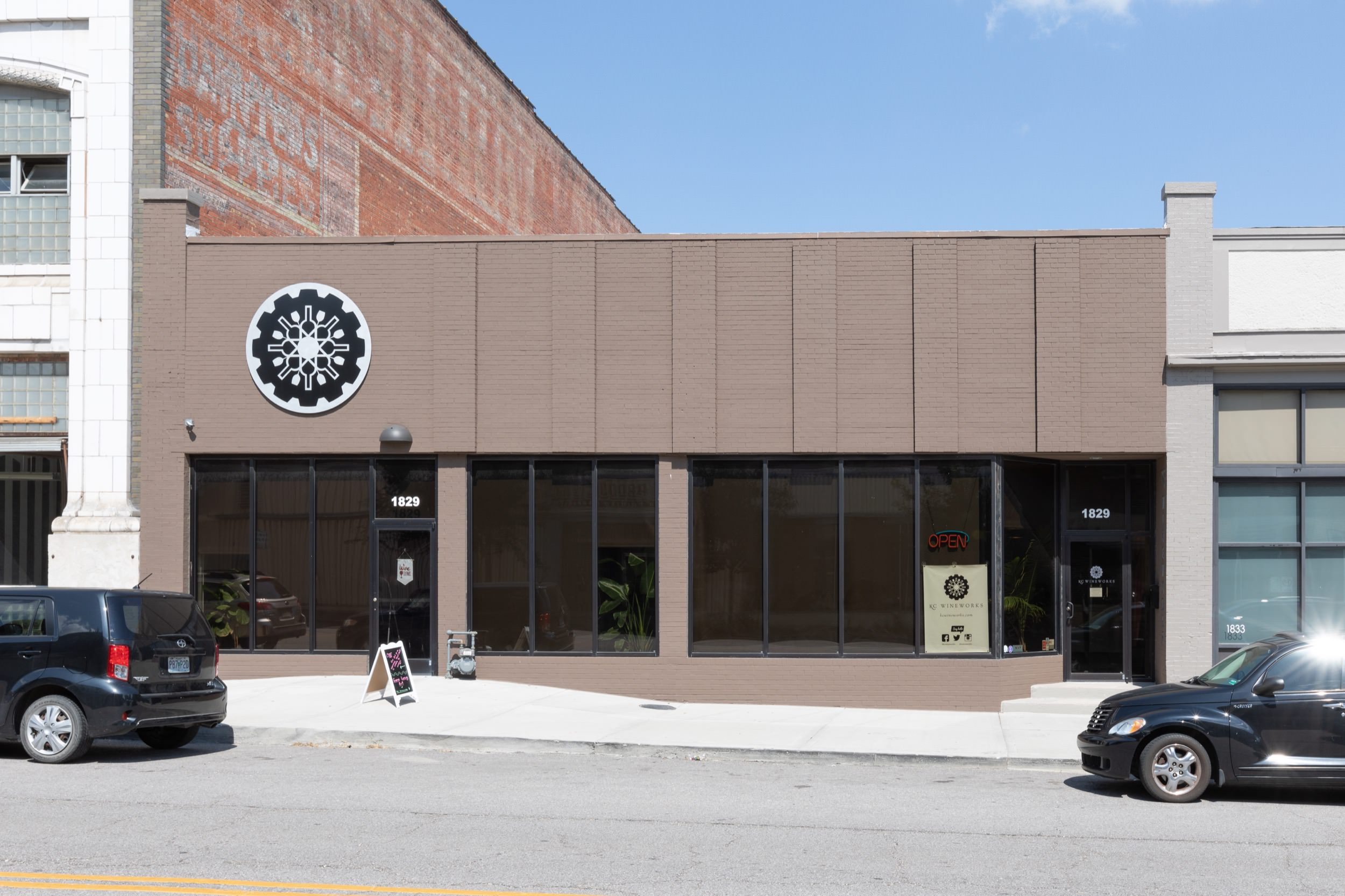 Exterior facade of KC Wineworks