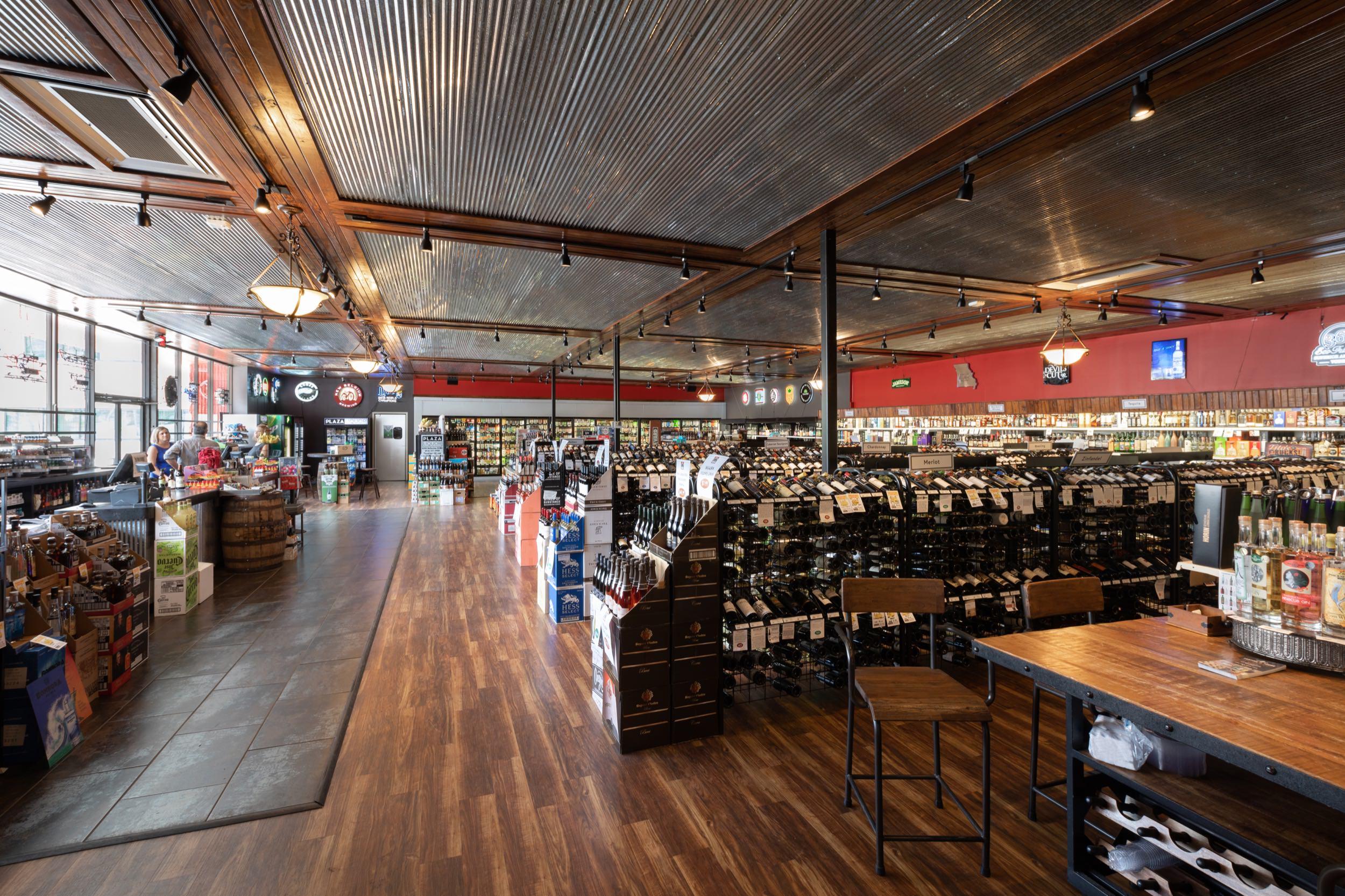 Retail space at Plaza Liquors