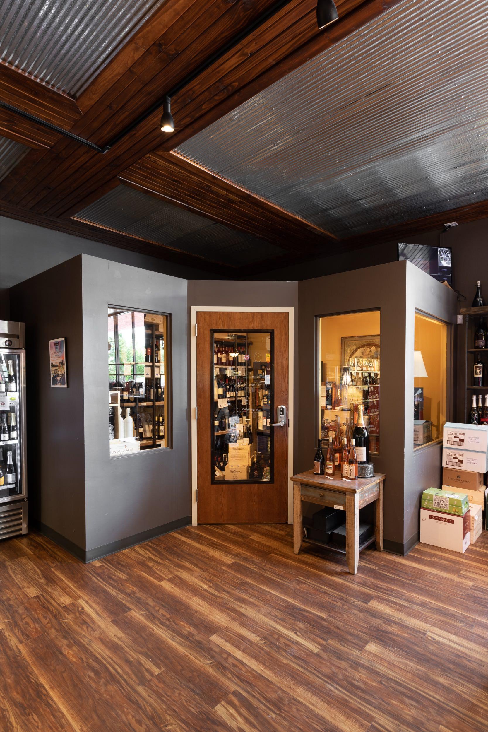 Wine cellar at Plaza Liquors