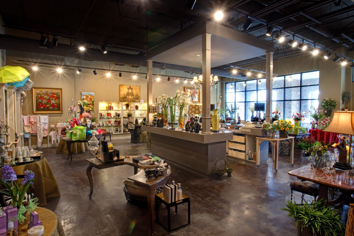 Interior view of Noel's Fine Gifts in Mission Farms