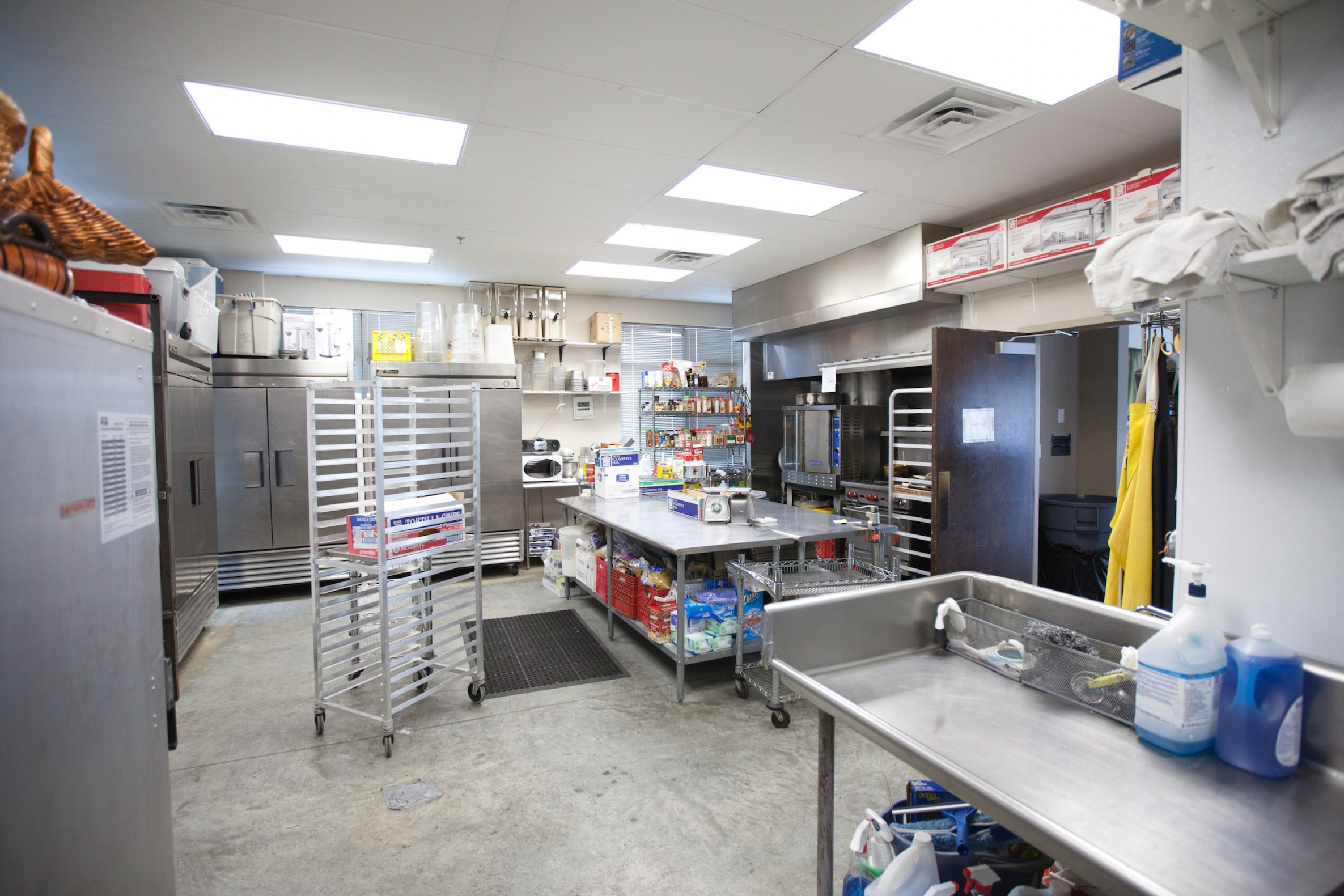 Commercial kitchen at Terrace On the Green Event Space