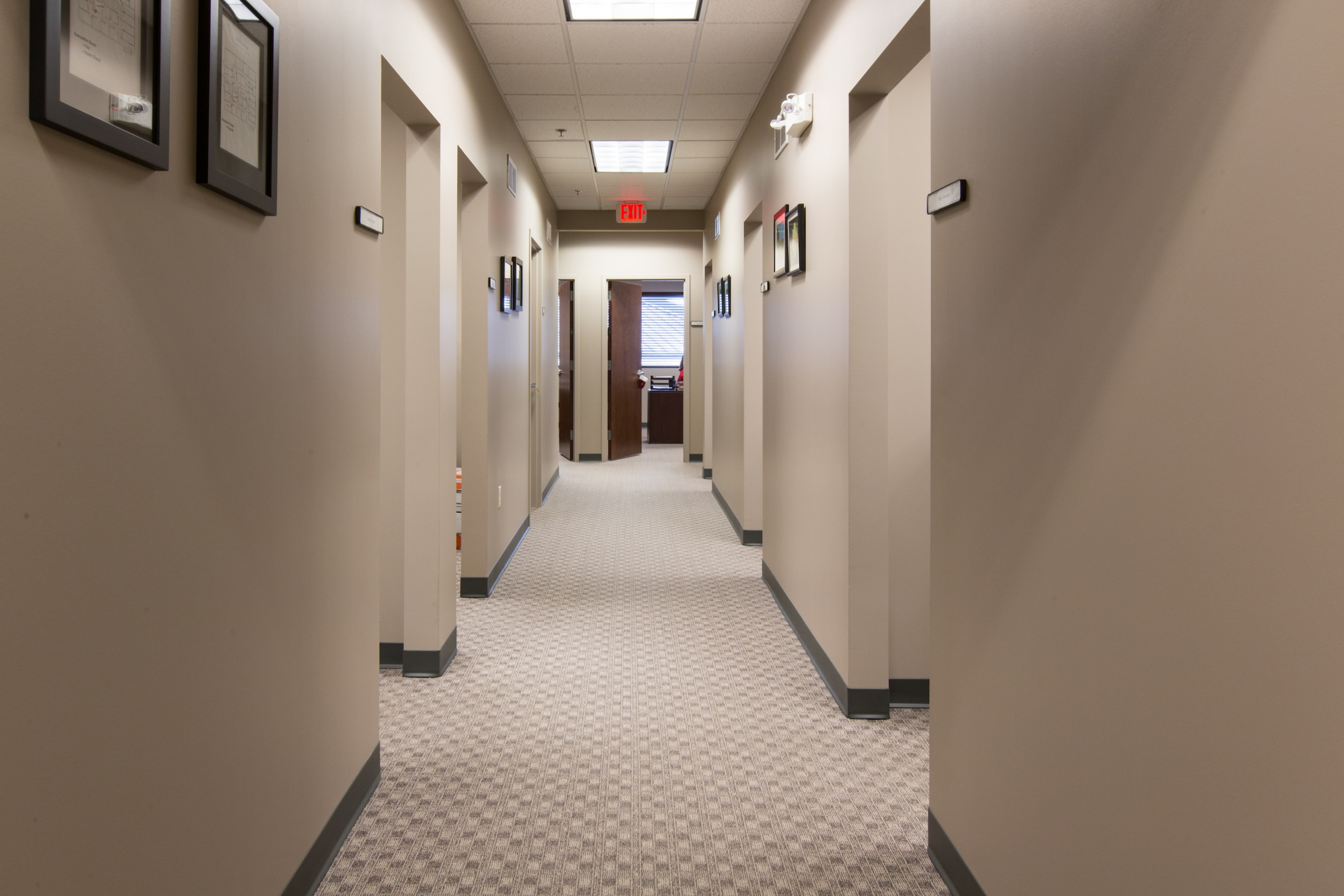 Hallway in the ReDiscover office