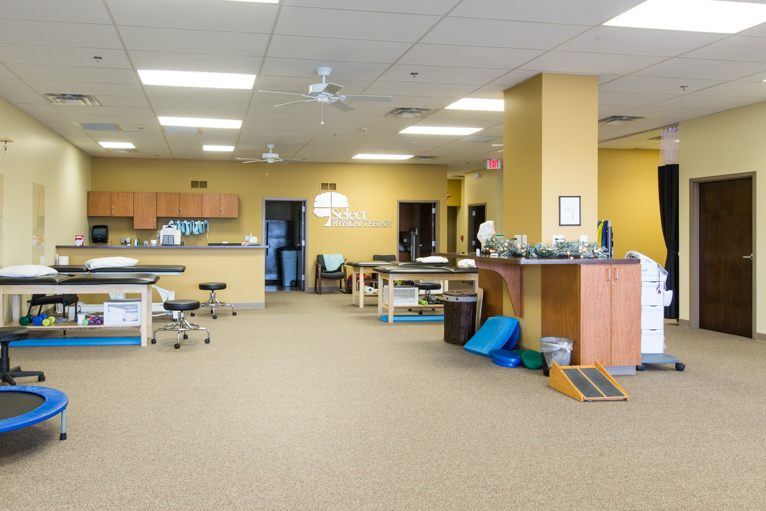 Therapy space at Select Physical Therapy