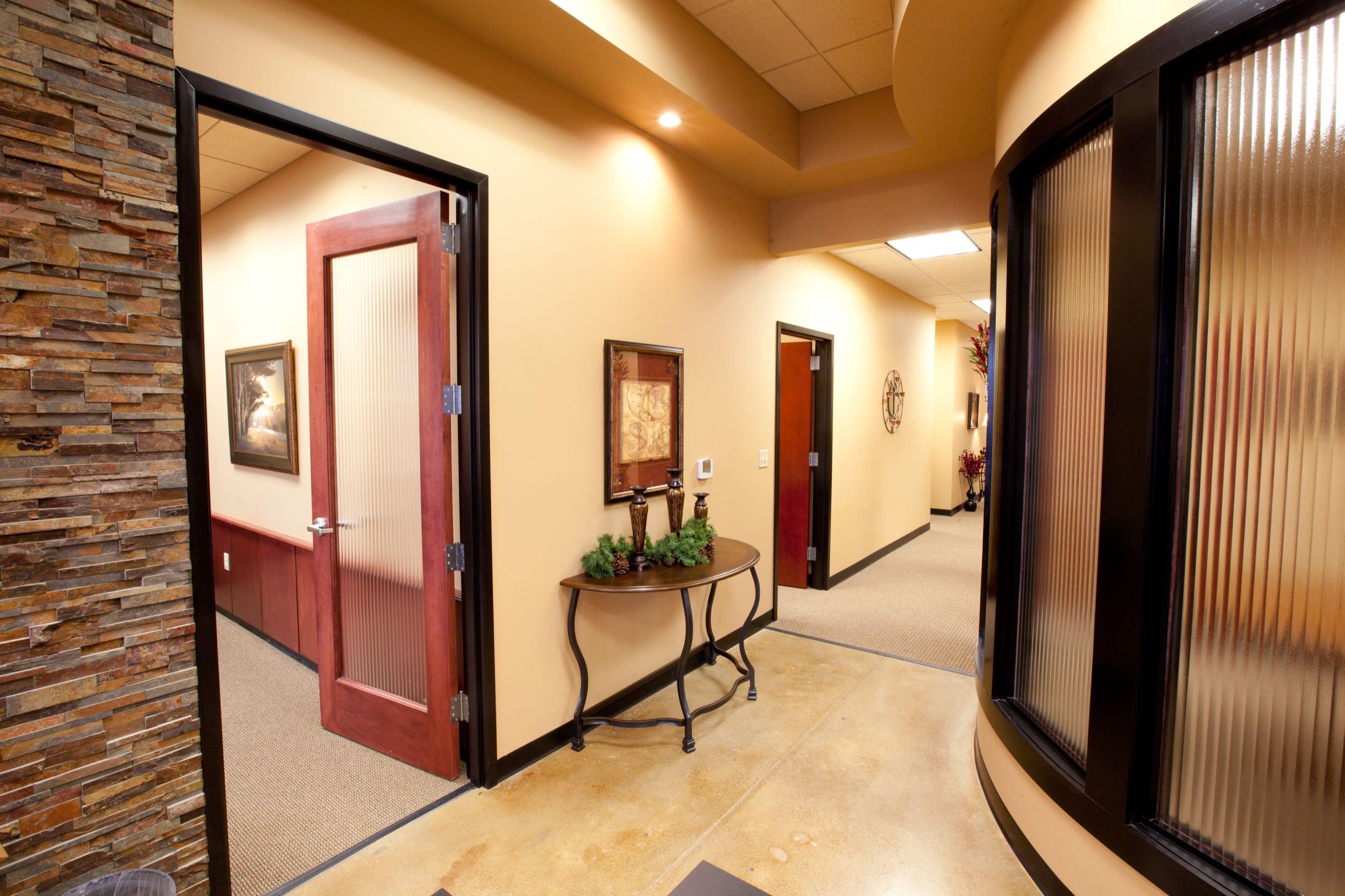 Hallway in an office at Centennial Park