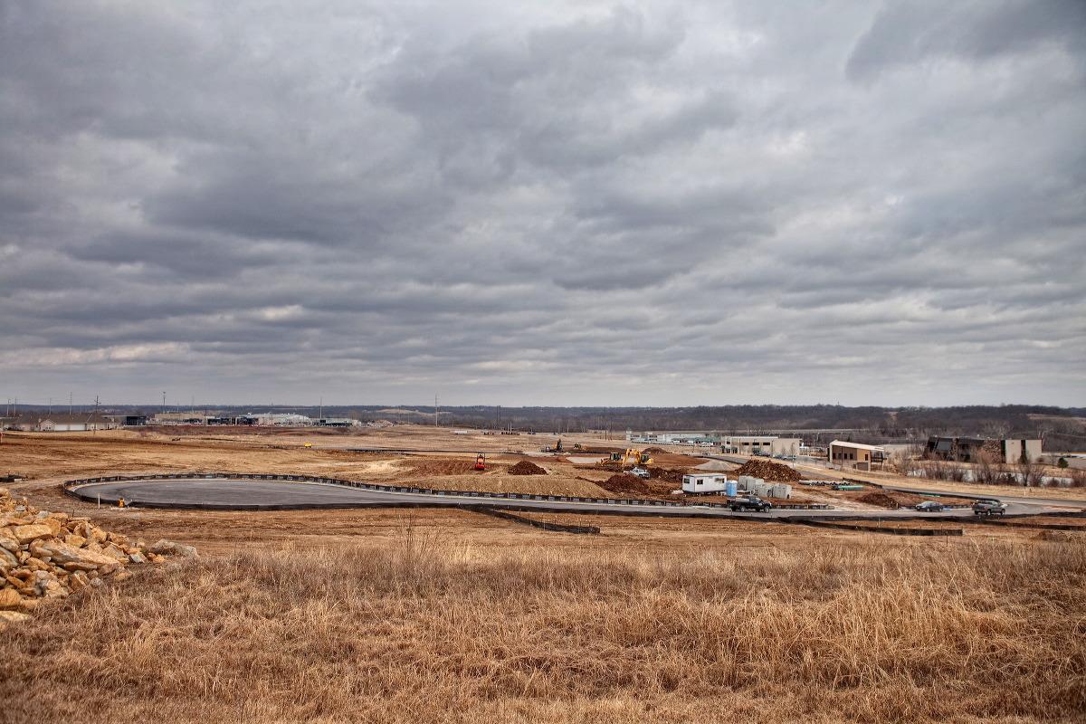 The Centennial Park location prior to construction