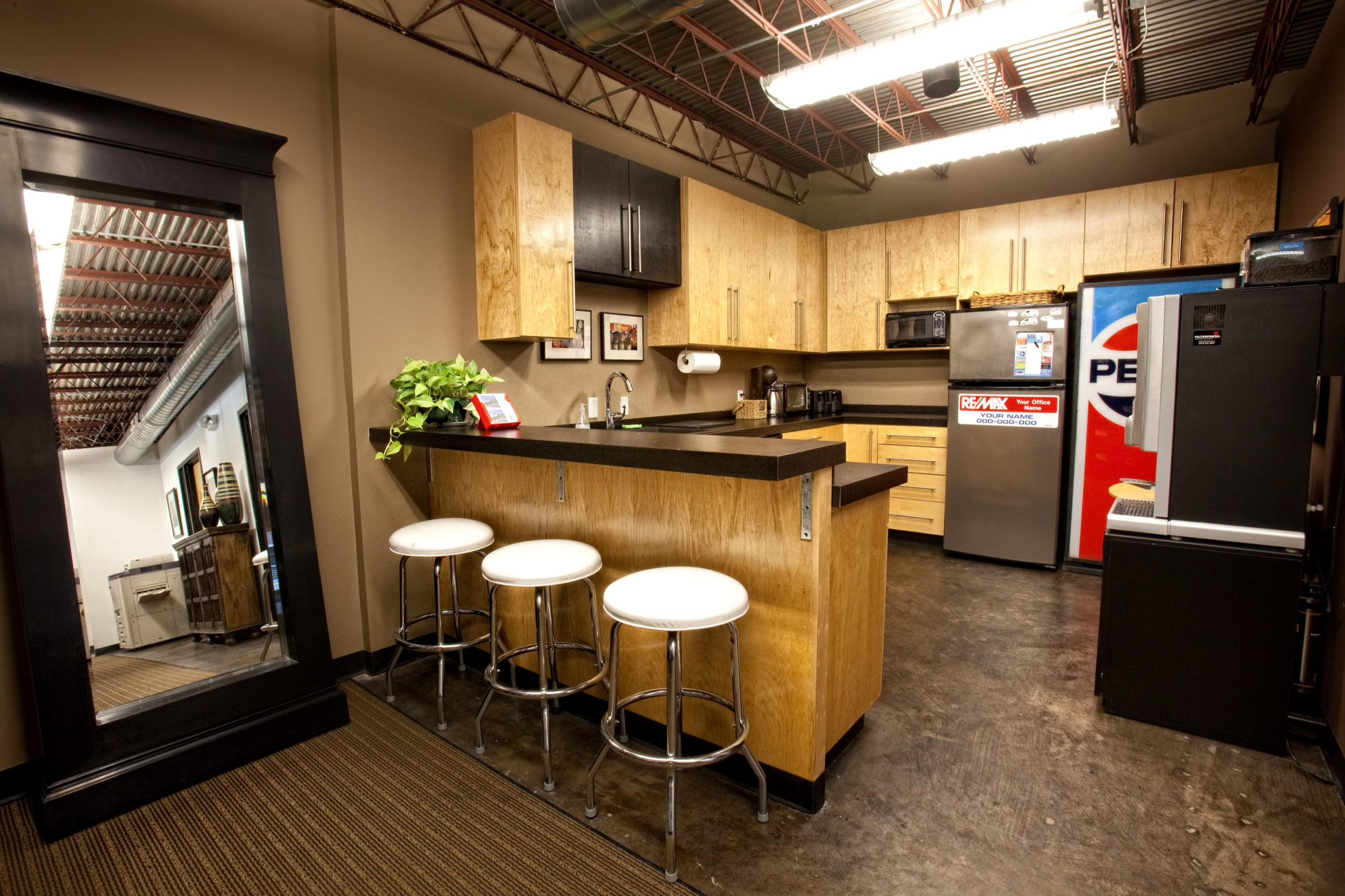 Employee break room kitchen