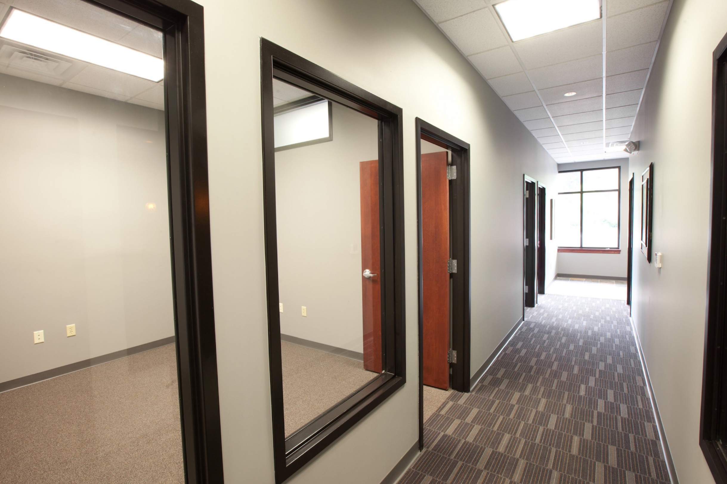 View of offices and hallway at West College office park