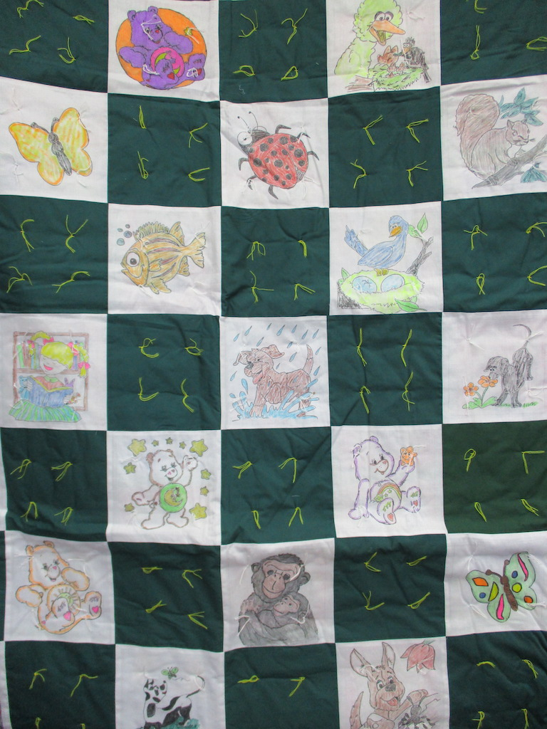 39, COLORING BOOK COMFORTER, 50x66, Donated by Cumberland Valley Relief Center