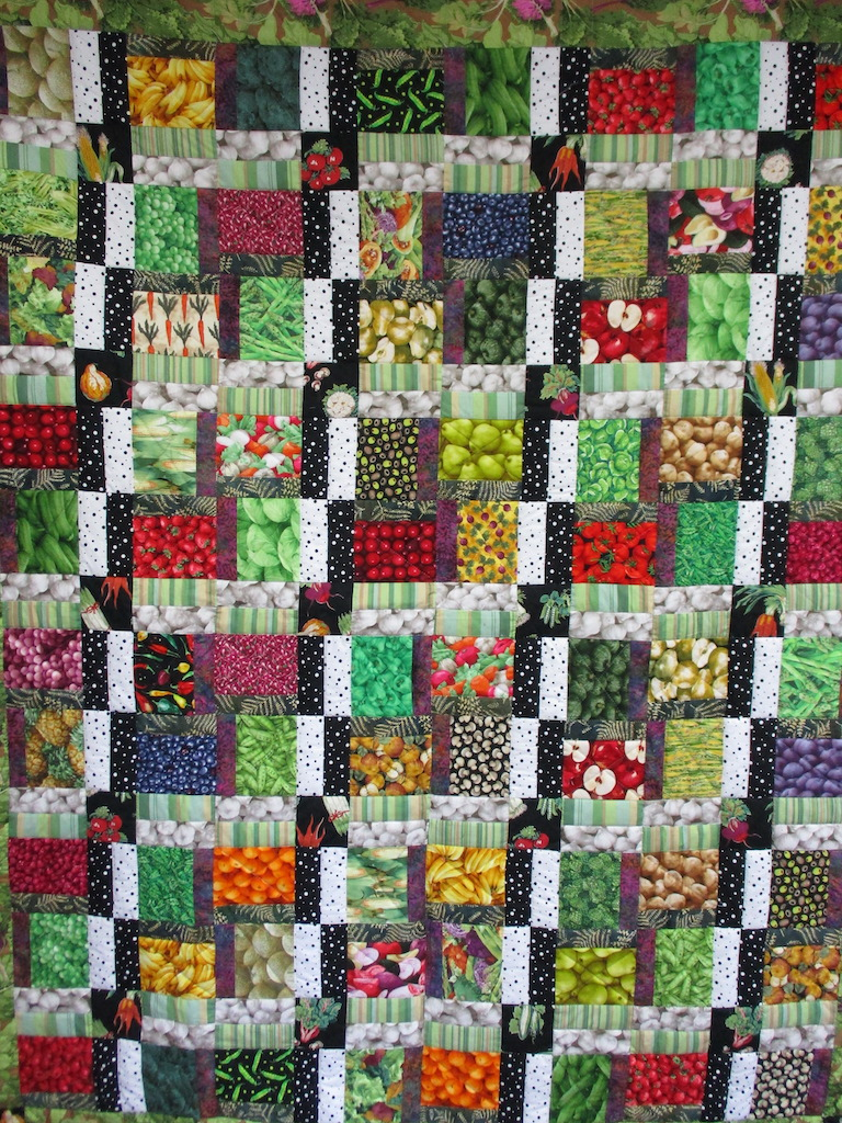 58, FARM FRESH, 74x90, Donated by A friend of MCC, Quilted by MRC Harleysville Volunteers