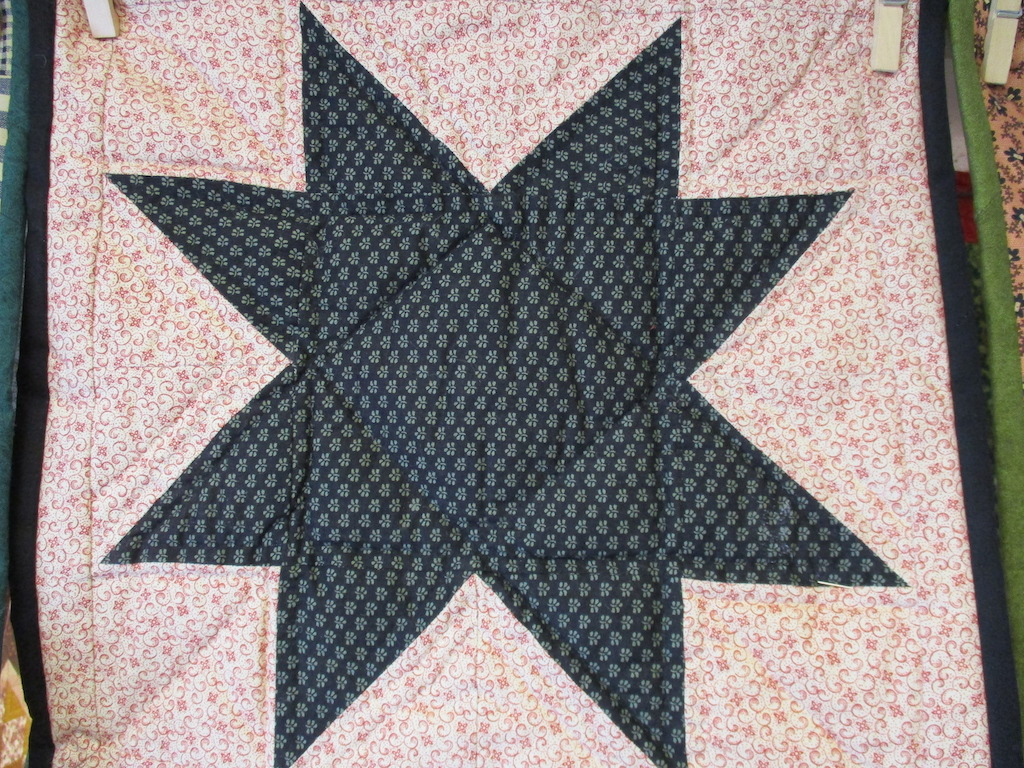 68, STAR (signed and dated), 14x14, Pieced and Quilted by Fran Fitz Kennedy