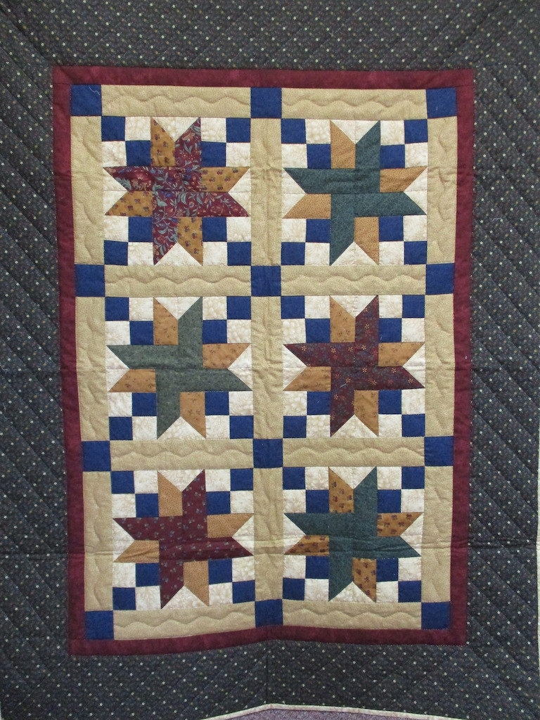 108, STAR, 46x60, Quilted and Donated by Locust Grove Mennonite Church Ladies' Sewing Circle