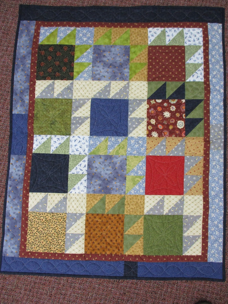115, BEAR PAWS, 33x42, Pieced and Donated by Fannie Ellenburg, Quilted by MCC Volunteers