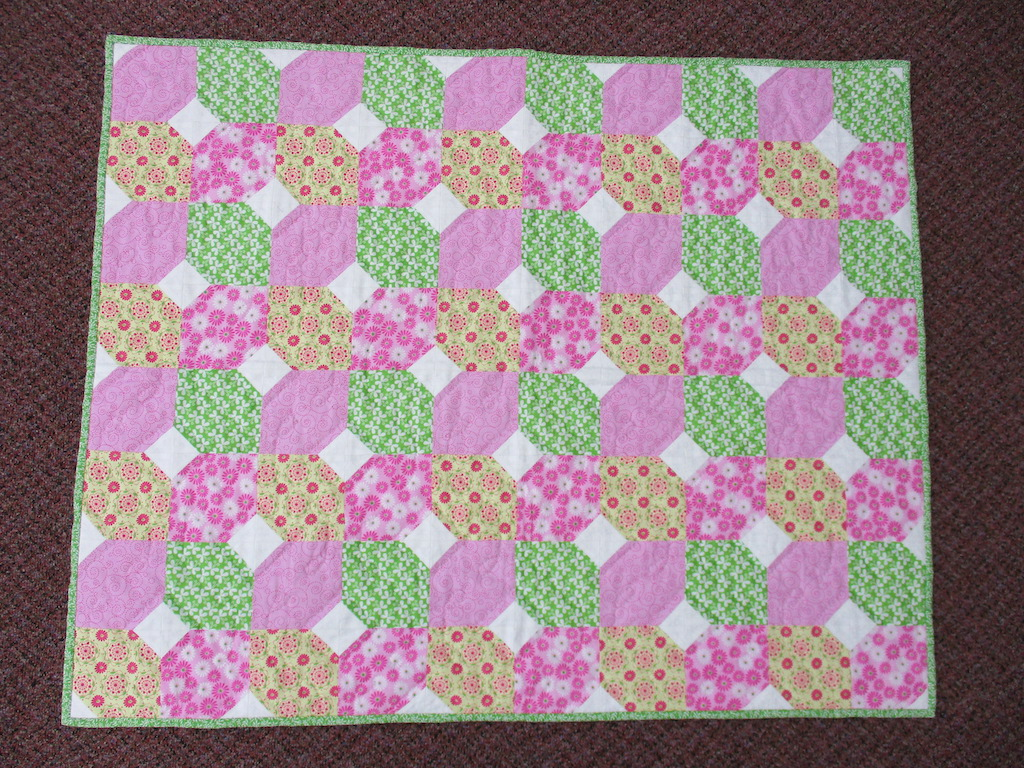 126, CITRUS AND MINT, 35x43, Pieced and Donated by Lucy McAloose, Quilted by MCC Volunteers
