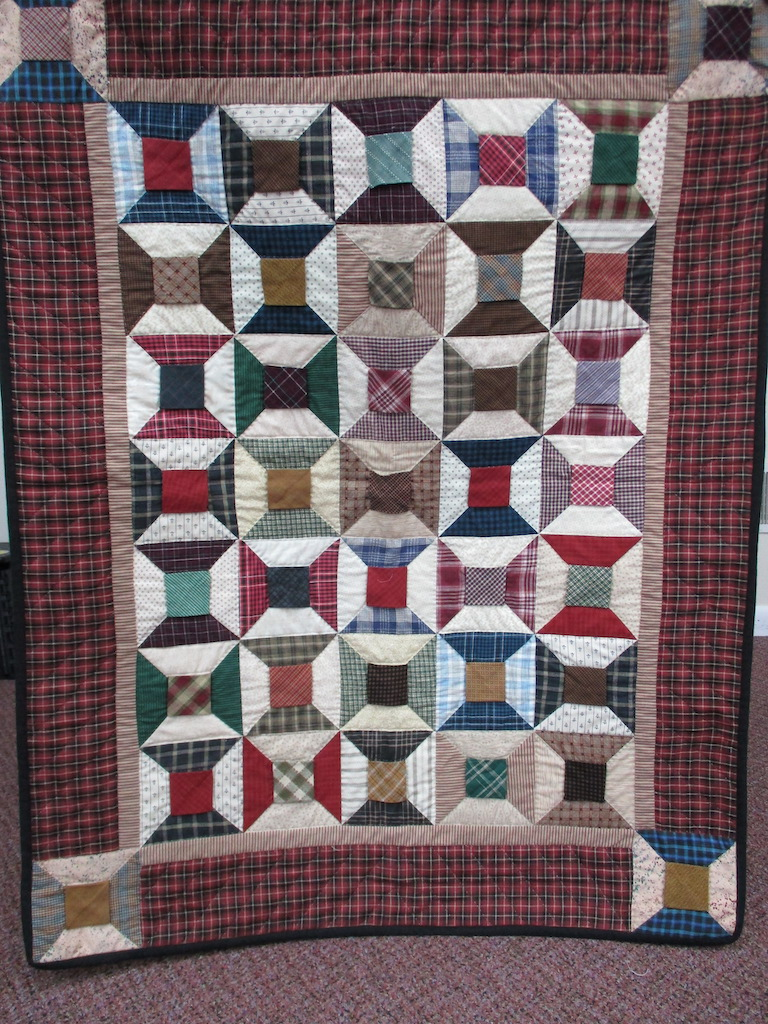 127, BOW TIE, 35x45, Donated and Quilted by Country Gift and Thrift