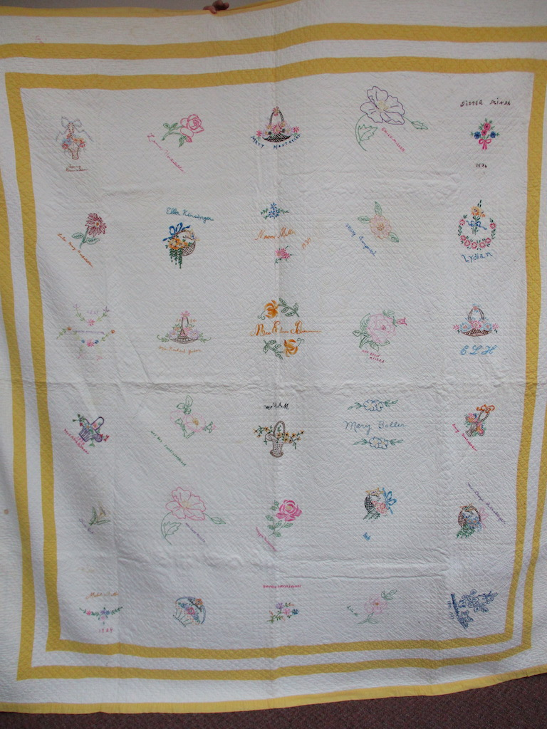 143, VINTAGE FRIENDSHIP QUILT, 77x90, Donated by Harold King