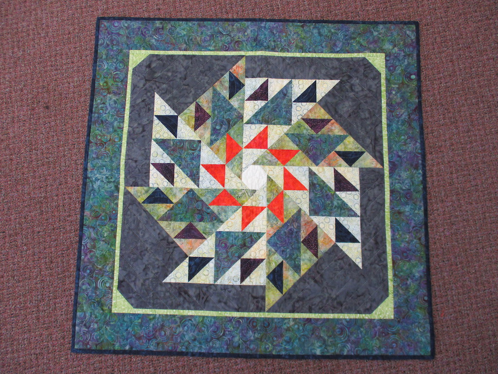 180, CIRCLE OF HOPE, 40x40, Pieced and Donated by Ellen Ressler, Quilted by Joan Tice