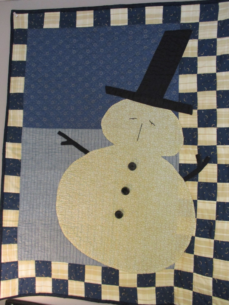 220, SEYMOUR (signed and dated), 36x34, Pieced and Appliqued by Dolly Myers, Quilted by Marie Eby