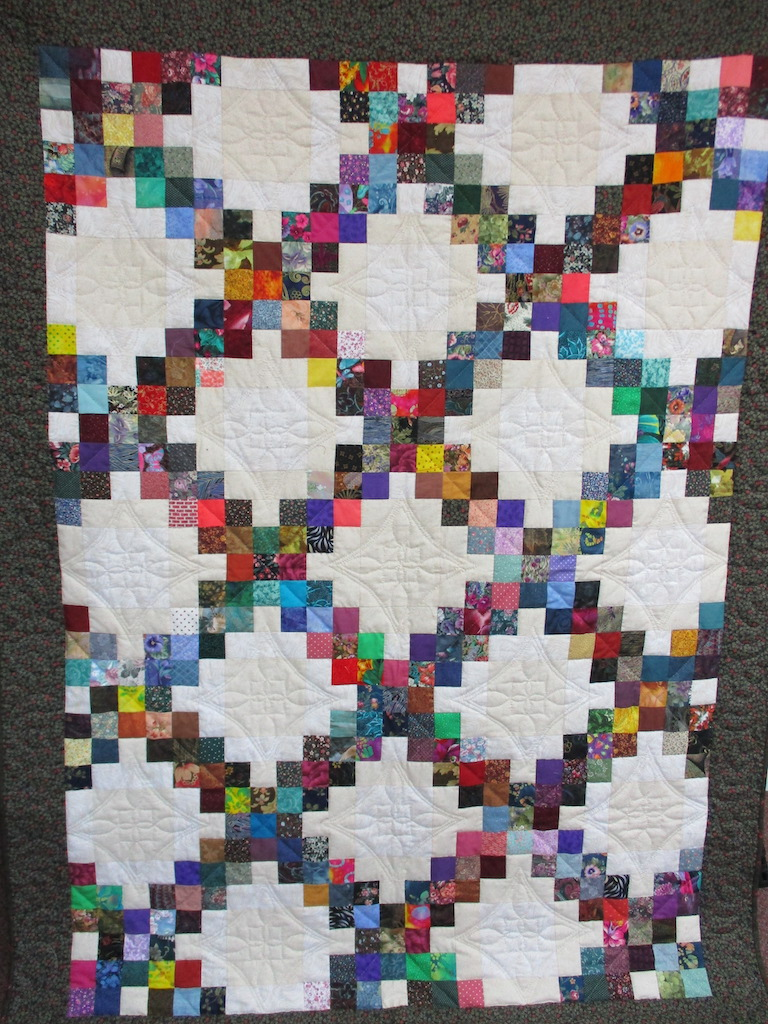 224, MY JOURNAL, 60x80, Pieced and Donated by Janine Reninger, Quilted by MCC Volunteers