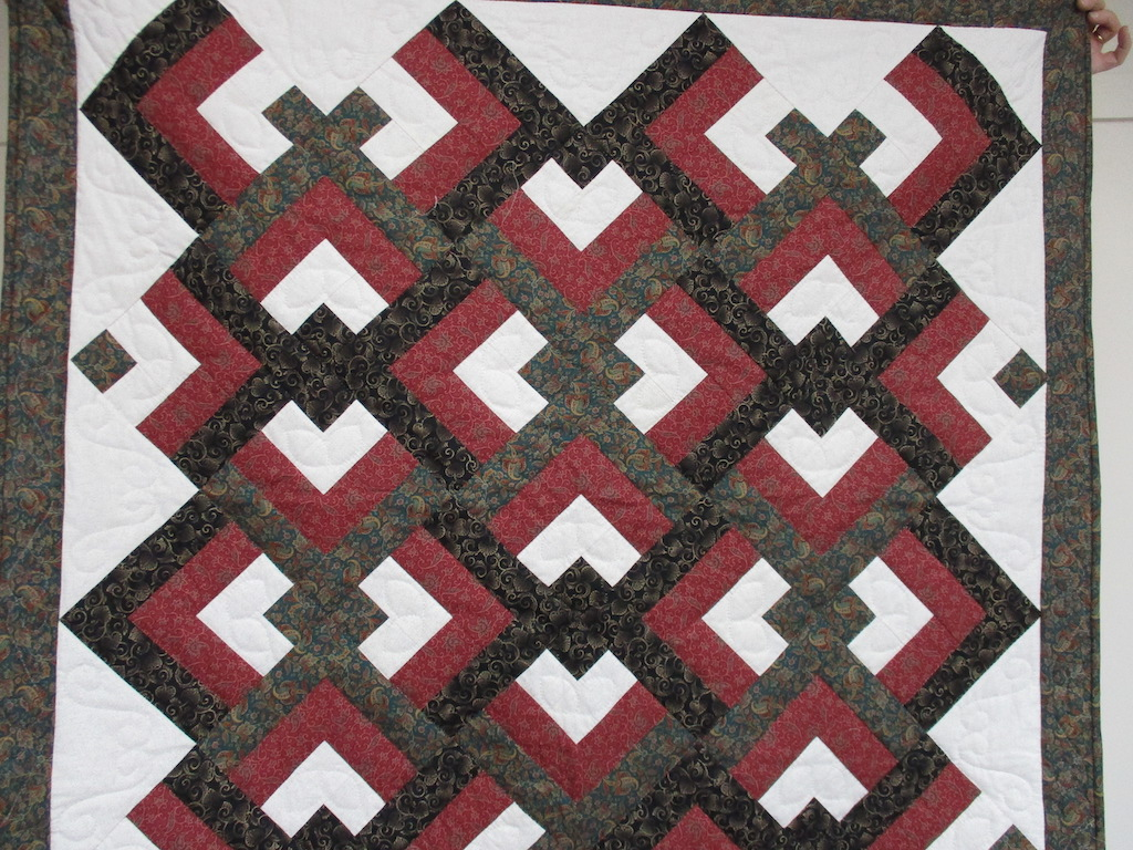 226, CIVIL WAR LOVERS' KNOT, 50x50, Pieced and Donated by William Koppenhaver, Quilted by MCC Volunteers