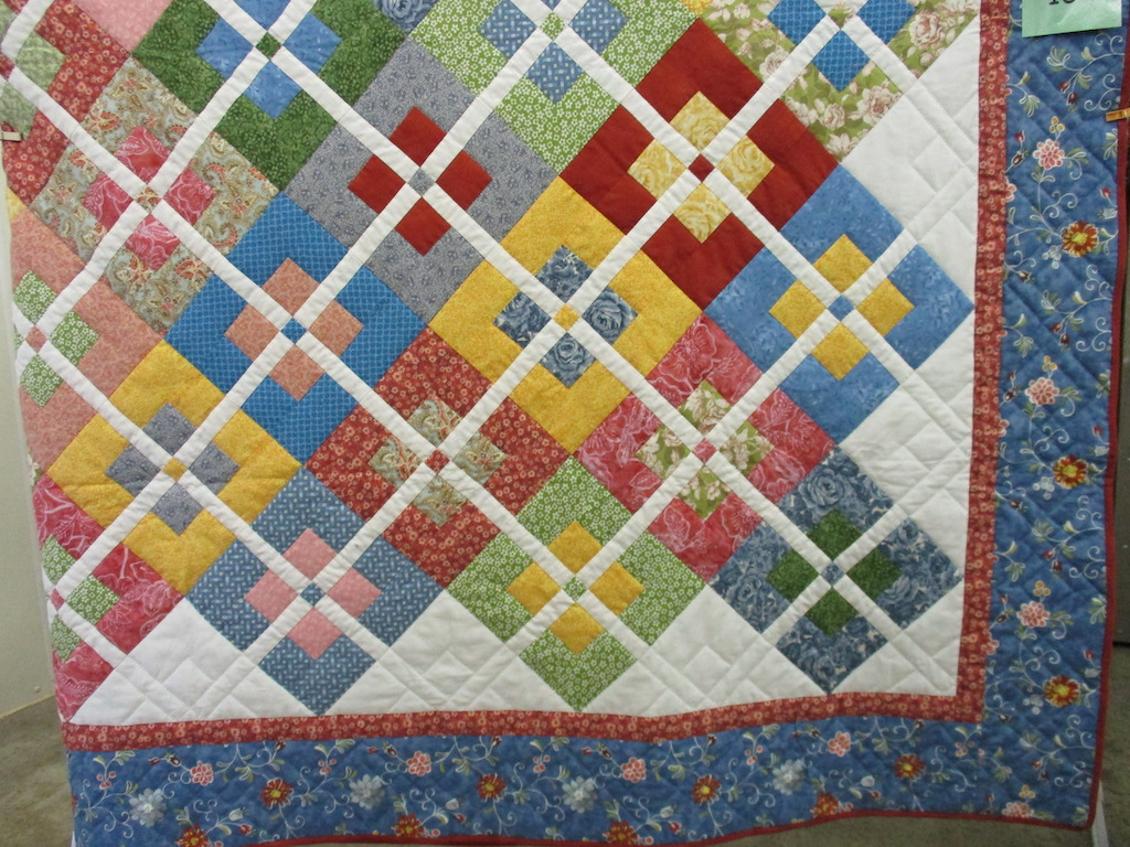246, OLD COUNTRY (signed and dated), 84x97, Pieced and Quilted by Joy Martin