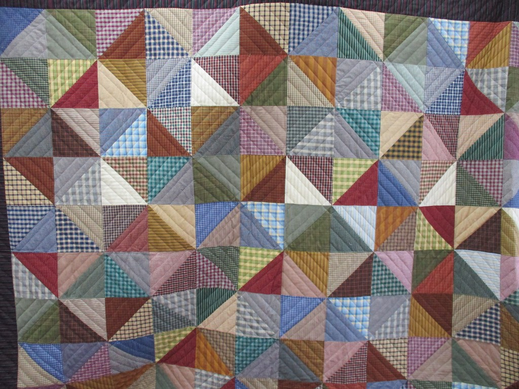 256, THE HIRED MAN'S QUILT, 96x112, Pieced by Connie Lapp, Quilted by MCC Volunteers