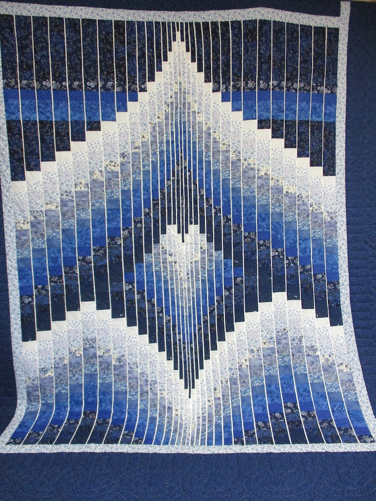 259, FRACTURED RHAPSODY, 101x112, Donated by Emma Witmer, Quilted by MCC Volunteers