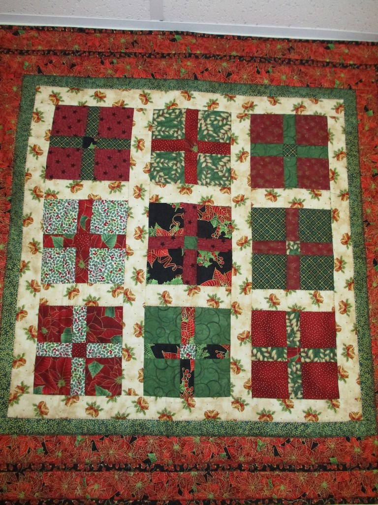 272, GIFT BOXES (signed and dated), 32x33, Pieced and Quilted by Susie DeVos