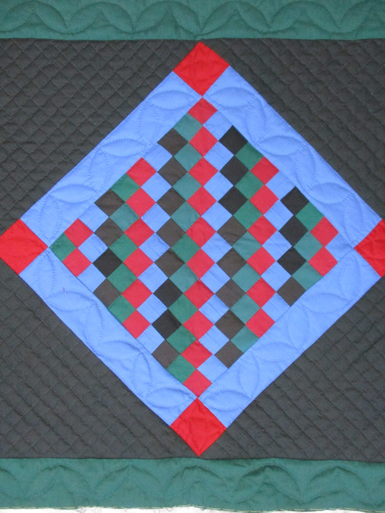 305, AMISH ROWS, 32x32, Pieced and Donated by Lucille Groff, Quilted by MCC Volunteers